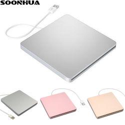 مشغل أقراص DVD USB مسجل أقراص CD-RW خارجي مشغل أقراص DVD CD Reader محرك أقراص ضوئية لكمبيوتر MacBook المحمول