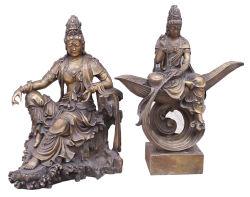 Bouddha de bronze sculpture Kwanyin (BZ1, BZ7)