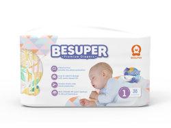 Besuperのよい反漏出赤ん坊の使い捨て可能なおむつOEM/ODM