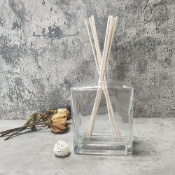Private Label 200мл Ароматерапия роскошная комната стеклянную бутылку плетеной пластинчатый диффузор палочки