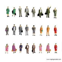 1: 87 gemalte stehende Menschen Zug Eisenbahn O Maßstab stehend gemalte Menschen Personenmodellfiguren