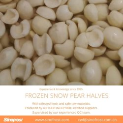 Nieve IQF las mitades de pera, congeladas las mitades de pera de nieve, nieve, congelado IQF Peras Peras de nieve,