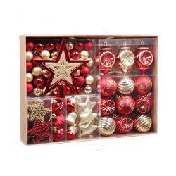 アマゾン熱い販売のクリスマスの球の一定の使用できる軽量の休日のクリスマスツリーの装飾の装飾のクリスマスの装飾