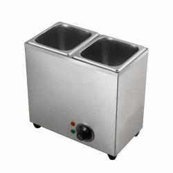 Contatore elettrico per uso commerciale a bagnomaria/scaldabiberon per alimenti / Stazione zuppa per 2 Inset modello dB-2-16