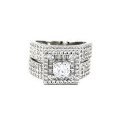 De vierkante Rhodium van de Juwelen van de Ring van de Decoratie Fijne Gouden Voorraad van de Orde van de Grootte van de Kleur 7# 8# 9#