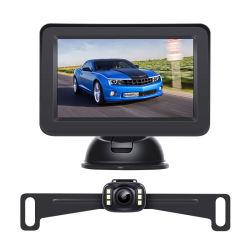 駐車ワイヤーバックアップ背面図のカメラキットが付いているワイヤーで縛られた4.3inch車の監視テレビを逆転させる
