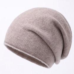 100% Cashmere Beanie Hat mujer dama moda de invierno lana Hat