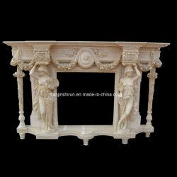 Jardim decoração em pedra estatuária de mármore lareira (L1-17)
