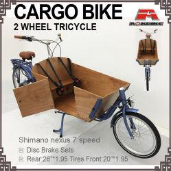 貨物バイクのカートンの自転車の三輪車の人力車のベルト7の速度