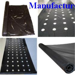 La agricultura negro perforado de película plástica con orificio de perforación
