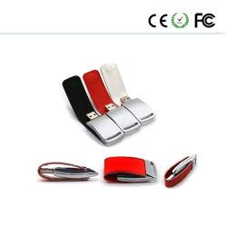 最も新しいカスタムロゴの革USBのフラッシュ駆動機構