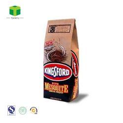 El doble papel Kraft capas de carbón de madera Barbacoa bolsa de embalaje