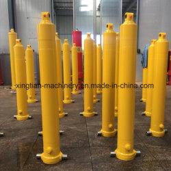 De Hydraulische Cilinder van vier Stadia voor de Vrachtwagen van de Stortplaats