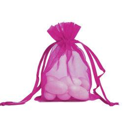 Cadeau Personnalisé promotionnels imprimés l'organza coulisse Pochettes pour mariage (S/N-1116)