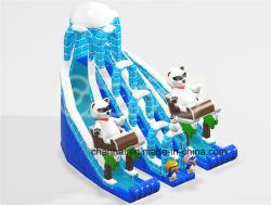 Oposto Polar Bear e Penguin Ice Castle Inflável Dry Slide (CHSL1107)