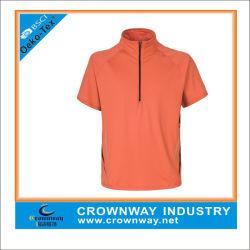 남성용 폴리에스테르 Athletic Top 스포츠 셔츠(하프지퍼)