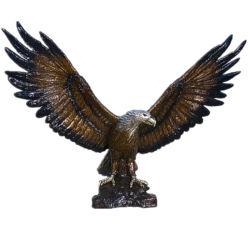 Venta caliente de tamaño de la Vida Animal estatua de bronce escultura águila