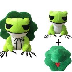 Kawaii poupée de jouets en peluche qui voyagent à deux dimensions de la grenouille Cure jeter l'oreiller avec chapeau amovible Soft trucs de la poignée de jouets pour adultes Enfants