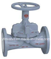 Lined Weir 다이어프램 Valve for Chemical Industry