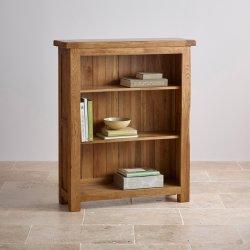 Vintage Chêne rustique en bois massif petite bibliothèque