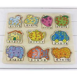 Puzzle Madeira brinquedos educativos Kid (TS 6538)