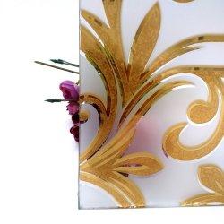 8 mm de verre gravé acide Pattern pour porte de cuisine