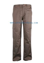Venda por grosso de vestuário Fr à prova de calças resistente a óleo para os trabalhadores de soldagem