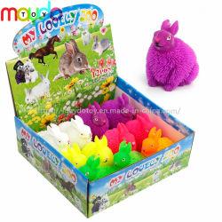 卸し売りTPR LEDの点滅のウサギのパッファーの球のおもちゃ