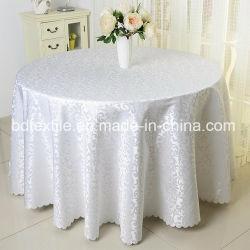 Chiffon de table de mariage 108pouces Jacquard capot table ronde