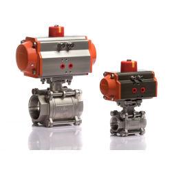 Dn25 Одиночного действия 2 пневматический привод шаровой клапан