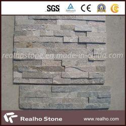 Impiallacciatura dentellare della pietra del quarzo per il rivestimento della parete