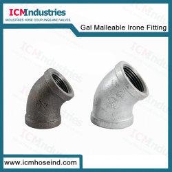 Montaje del tubo de hierro maleable galvanizado 120 Codo de 45 grados
