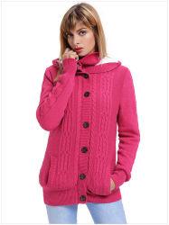 OEM 겨울 양털을%s 가진 온난한 뜨개질을 한 여자 스웨터