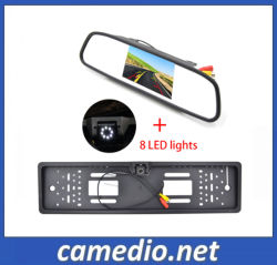 """4.3"""" LCD Espelho do carro com a Placa de Licença da Câmara de Backup"""