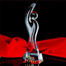 Trophée de cristal de gros de bille de verre &Award Don