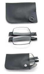 Metal pieghevole Reading Glasses con Caso Packing