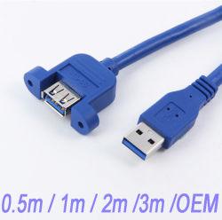 USB3.0 ذكر إلى أنثى كابل تمديد الكمبيوتر المضيف لوحة الإطار الرئيسي قم بتركيب كابل مهايئ موصل USB اللولبي