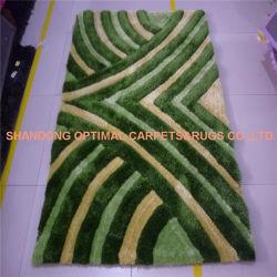 3D polyester Shaggy tapis faits main, Shaggy tapis