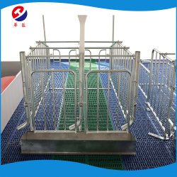 Ferme porcine de l'équipement de la Caisse de gestation de semer la cage pour la vente fabriqués en Chine décrochage limitée