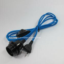 Prise Euro Cordon d'alimentation avec interrupteur rhéostat E27 Douille de lampe