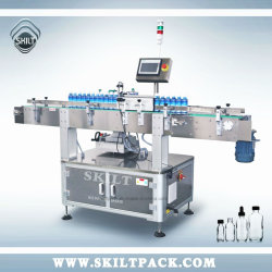 Automatische Plastikglasflasche rüttelt Dosen-selbstklebender Kennsatz-Applikatoren-Etikettiermaschine