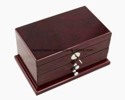 높은 광택 나무로 되는 보석 저장 포장 선물 상자 시계 목걸이 기념품 패킹 선물 상자