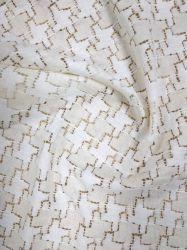 Mode de gros de l'eau soluble pour vêtement broderie dentelle de coton