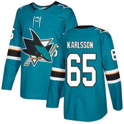 Hombres Mujeres Jóvenes tiburones Jerseys 65 Erik Karlsson camisetas Hockey