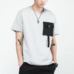 Hiphop surdimensionné à la palangre T Shirt 2018 Hommes fashion T-Shirt Long Sleeve étendu à l'ourlet incurvée Tees Vêtements hommes Vêtements urbains
