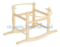 Nursery Panier Stand Stand bascule en bois massif pour Mose Panier