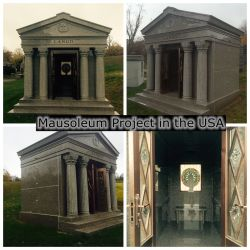 Preiswerte Krypta-privates Mausoleum des Granit-6 für Verkauf