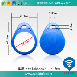 RFID van uitstekende kwaliteit ABS Tk4100 keychain voor Access Control