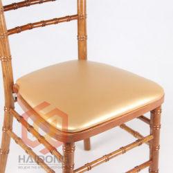 金カラーPUファブリックChiavariの椅子の堅いシート・クッション