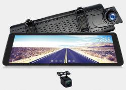 """9,88 """" Écran tactile Miroir double enregistrement Vue arrière du tableau de bord de l'auto voiture caméra"""